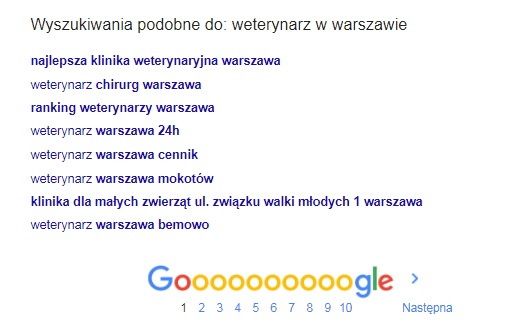 local seo, podpowiedzi z Google
